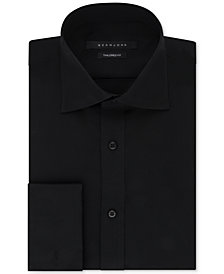 Sean John Men's Classic/Regular Fit White Solid French Cuff Cotton Dress Shirt