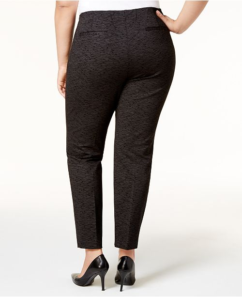 14b5c79e392a4 ... Alfani Plus Size Metallic Pont eacute -Knit Slim Pants