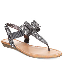 Material Girl Shayleen Flat Thong Sandals, Created for Macy's