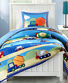 Mi Zone Kids Totally Transit 4-Pc. Reversible Full/Queen Comforter Set