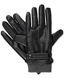 Isotoner Men's Faux Nappa  Gloves
