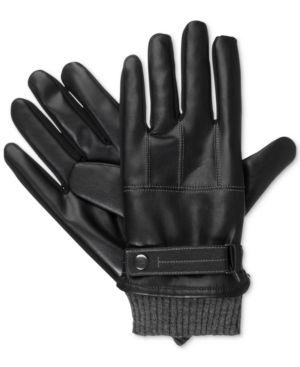 Isotoner Men's Faux Nappa Gloves 4992287