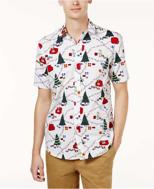 e92e31b2c ... American Rag Men's Slim-Fit Holiday Shirt, Created for Macy's ...