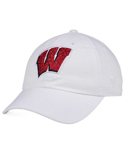 Top of the World Women's Wisconsin Badgers White Glimmer Cap