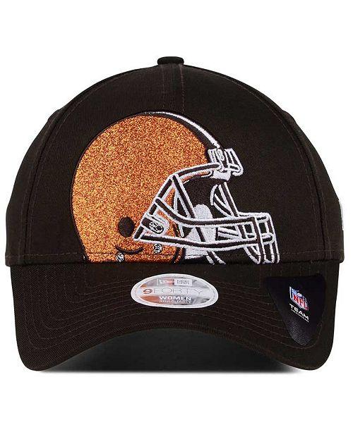 brand new 1996b 4f8d4 ... denmark new era womens cleveland browns glitter glam 9twenty strapback  cap sports fan shop by lids ...