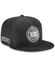 New Era Detroit Pistons On-Court Black Gold Collection 9FIFTY Snapback Cap