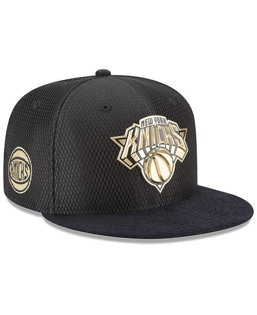 New Era. New York Knicks On-Court Black Gold Collection 9FIFTY Snapback  Cap. Be the first to Write a Review. main image  main image ... bcec0e83814b