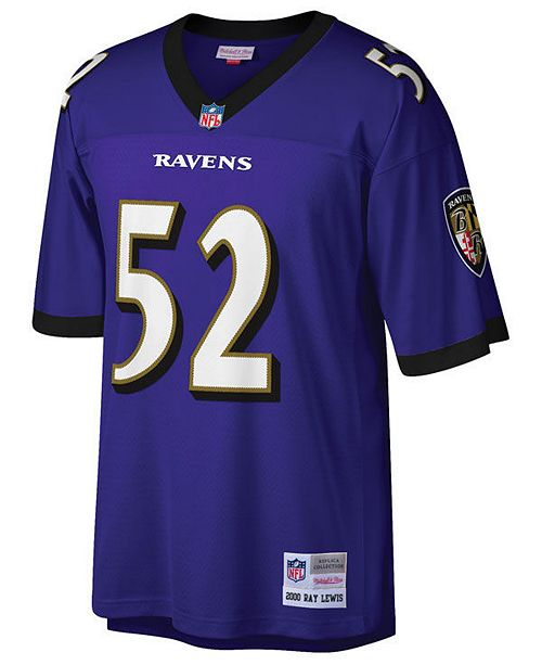 Mitchell & Ness Men's Ray Lewis Baltimore Ravens Replica Throwback