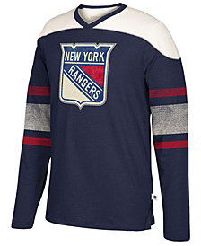 Men's New York Rangers Appliqué Crew Long Sleeve T-Shirt