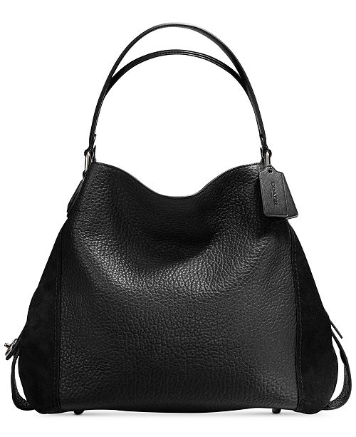 9864408e34df COACH Edie Shoulder Bag 42 In Mixed Leathers   Reviews - Handbags ...