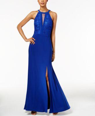 Nightway Lace Halter Gown Dresses Women Macys