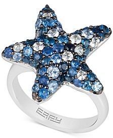 EFFY® Sapphire Starfish Ring (3 ct. t.w.) in Sterling Silver