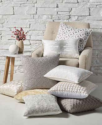 CLOSEOUT! Hallmart Collectibles Winter White Decorative Pillow Collection