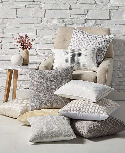 throw pillows for bed Hallmart Collectibles CLOSEOUT! Winter White Decorative Pillow  throw pillows for bed