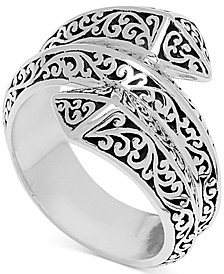 Filigree Pyramid Wrap Ring in Sterling Silver