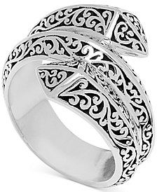 Lois Hill Filigree Pyramid Wrap Ring in Sterling Silver