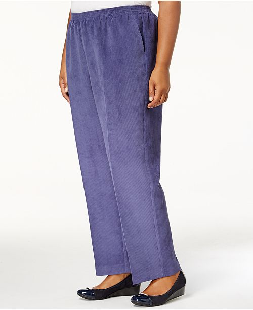 422d07b311e Alfred Dunner Plus Size Classics Corduroy Pull-On Pants   Reviews ...