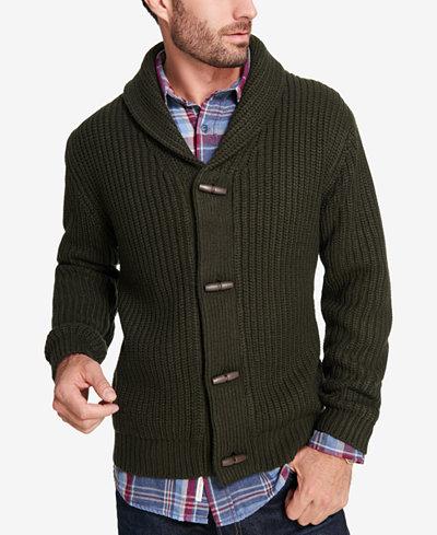 Weatherproof Vintage Men's Shawl-Collar Cardigan - Sweaters - Men ...
