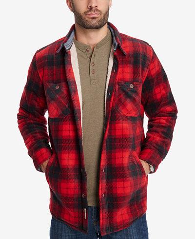 Weatherproof Vintage Men's Plaid Fleece-Lined Jacket - Coats ...
