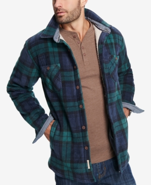 Men's Vintage Style Coats and Jackets Weatherproof Vintage Mens Plaid Fleece-Lined Jacket $47.99 AT vintagedancer.com