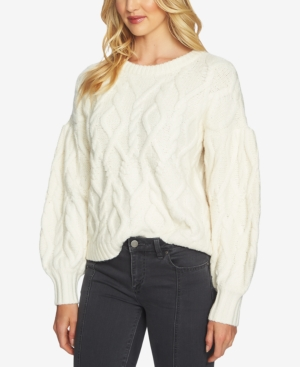 1.state Knits CABLE-KNIT SWEATER