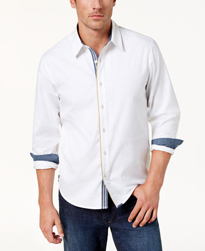 BS by Blake Shelton Men's Woven Shirt, Created for Macy's
