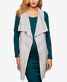 A Pea In The Pod Maternity Draped Vest