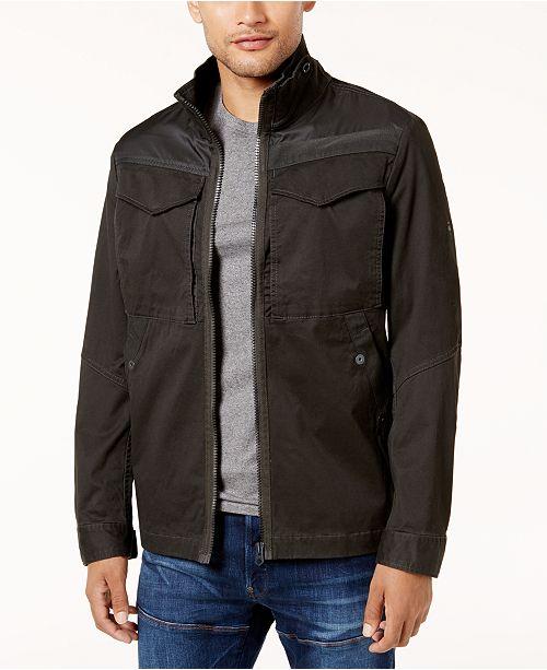 G Star Raw Mens Stretch Overshirt Jacket Coats Jackets Men