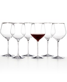 Waterford Elegance Cabernet Sauvignon Wine Glass Set of 6, Created For Macy's