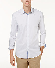 Con.Struct Men's Artisan Stretch Pin Dot Shirt, Created for Macy's