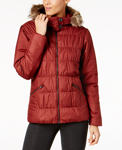 Columbia Sparks Lake Faux-Fur-Trim Thermal Coil Puffer ...