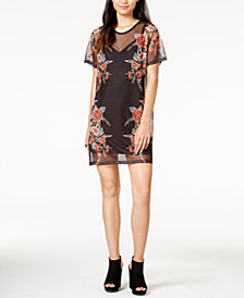 MINKPINK Wallflower Sheer Printed Dress