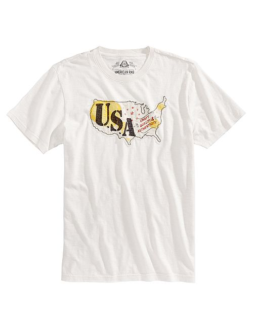 American Rag Men's USA Embroidered T-Shirt, Created for Macy's