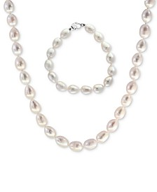 Final Call by EFFY® Cultured Freshwater Pearl (8-1/2mm) Strand Necklace & Bracelet Set