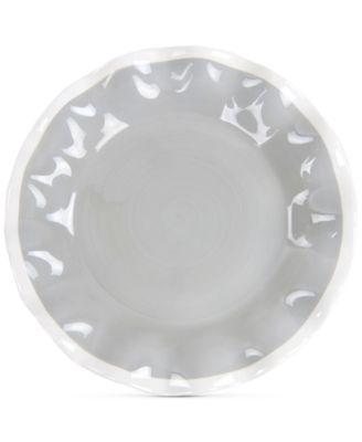 Mid Century Mix Stone Ruffle Salad Plate