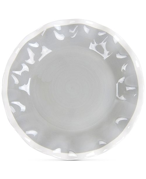 Coton Colors Mid Century Mix Stone Ruffle Salad Plate