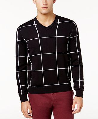 Tommy Hilfiger Men's Watson Windowpane Sweater, Created for Macy's