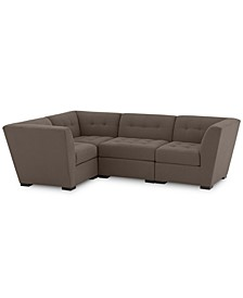 "Roxanne II Performance Fabric 4-Pc. ""L"" Modular Sofa, Created for Macy's"