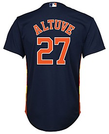 Majestic Jose Altuve Houston Astros Player Replica Cool Base Jersey, Big Boys (8-20)
