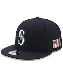 New Era Seattle Mariners Authentic Collection 9-11 Patch 59FIFTY Fitted Cap