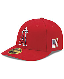 New Era Los Angeles Angels Authentic Collection Low Profile 9-11 Patch 59FIFTY Fitted Cap