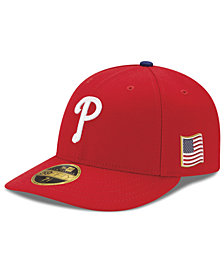 New Era Philadelphia Phillies Authentic Collection Low Profile 9-11 Patch 59FIFTY Fitted Cap