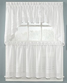 "CLOSEOUT! Peri Pair of Crochet 58"" x 30"" Swag Valances"