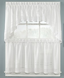 """CHF Peri Pair of Crochet 58"""" x 24"""" Cafe Curtains"""
