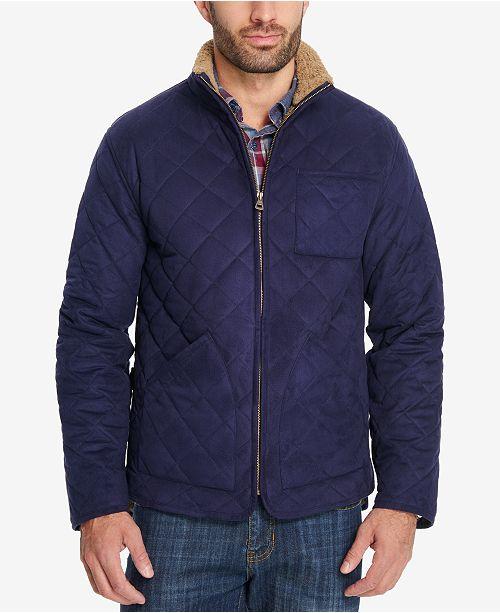 weatherproof vintage men s cvs quilted fleece lined jacket created