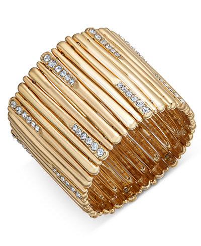 I.N.C. Pavé Stick Stretch Bracelet, Created for Macy's