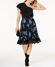 SB by Sachin & Babi One Shoulder Ruffle Top & A-line Skirt, Created for Macy's
