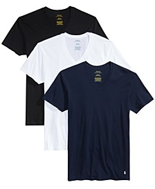 Men's 3-Pk. Cotton Classic V-Neck T-Shirts