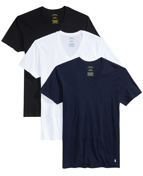 Men's 3 Neck Classic T V Shirts PkCotton c3RL54jqA