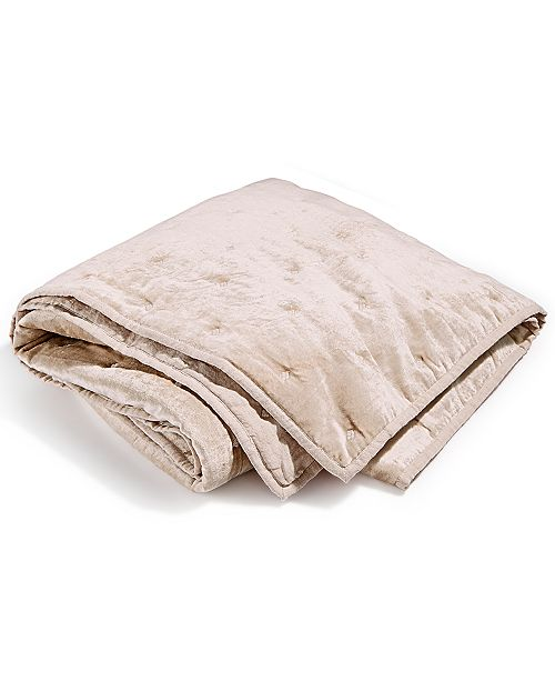 Hotel Collection Velvet Linen Throw, Created for Macy's